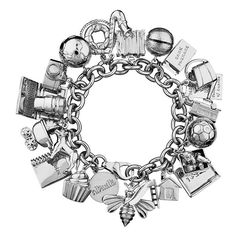 Altruette A Year of Charms Set (20.045 CZK) ❤ liked on Polyvore featuring jewelry, charm jewelry and altruette