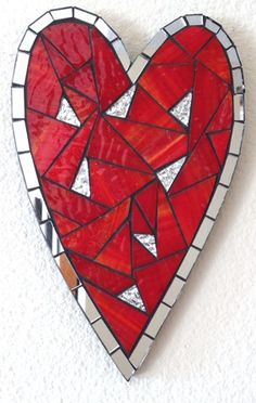 "Mosaic Heart - ""Love"" / to all my fellow pinners on Valentine's Day."
