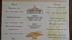 Hotel club Sabbiadoro: IL MENU DEL GIORNO