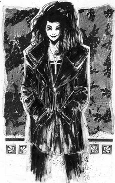 This 1993 poster of Death by Chris Bachalo was produced to coincide with the mini-series, Death: The High Cost of Living.  Bachalo sure managed to make Death cute.