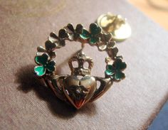 Vintage Avon Shamrock Brooch by AntiqueAlchemists on Etsy, $10.00