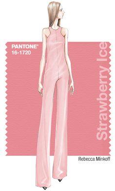 Rebecca Minkoff in Pantone Strawberry Ice - SPRING 2015 PANTONE's #FashionColorReport