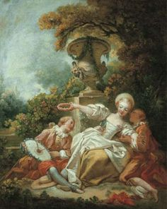 La coquette fixée (The fascinated coquette) by Jean Honoré Fragonard  An overview of Rococo style in art and architecture