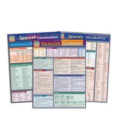 Look at this #zulilyfind! Spanish Vocabulary & Grammar Reference Sheet Set by BarCharts #zulilyfinds