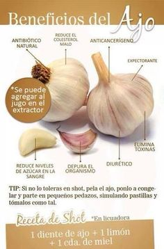 Beneficios del Ajo... de Hábitos.mx