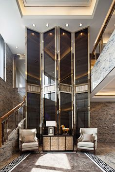 An unique luxury entrance | Find more ideas in http://www.bocadolobo.com/en/inspiration-and-ideas/