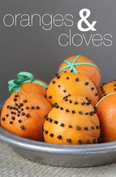 Oranges and Cloves for Christmas.