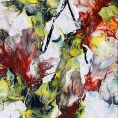 Oncidium - Fluid Acrylic Art by Eric Siebenthal - Acrylicmind.com