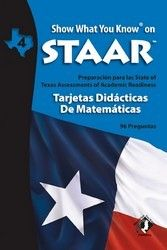 SWYK on STAAR Math Flash Cards SPANISH Gr 4. Includes new updated Math Standards!
