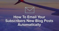 Find out how to send your email subscribers your latest posts automatically with an RSS feedemail using MailChimp and other email providers. Put your emails on autopilot!