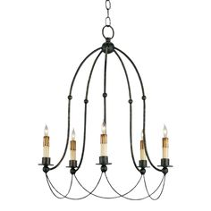 Currey & Company Derrymore Chandelier | Chairish | Tear Sheet 5 Light Chandelier, Modern Chandelier, Industrial Chandelier, Modern Farmhouse Lighting, Wrought Iron Chandeliers, Small Chandeliers, Transitional Chandeliers, Candelabra Bulbs, Chandeliers