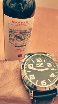 Good red wine and Pertegaz's clock. Pa' ir como un señó.
