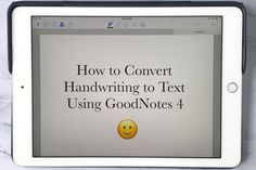 So you have an iPad Pro and an Apple Pencil and want to know how to convert handwriting to text? See this easy tutorial of how to use the GoodNotes 4 app to do this in a few quick steps. Ipad Pro Apps, Goodnotes 4, Macbook Pro Tips, Iphone 5se, Iphone Hacks, Apple Watch Iphone, Note Taking, Apple Products, Study Tips