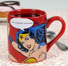 First Mother's Day gifts for new moms | I Am Wonder Woman mug... and a year's coffee subscription