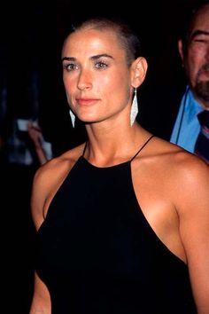 Demi Moore's Beauty Evolution Cara Delevingne, Jane Moore, Divas, Revealing Swimsuits, Attractive Eyes, Actrices Hollywood, Shaved Head, Bold Lips, Bruce Willis