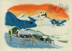 Påskekort Jørgen Thorsrud utg Børrehaug og Rønning Auction, Easter, Manga, Cards, Painting, Kunst, Easter Activities, Manga Anime, Painting Art