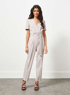 Grey Wrap Jumpsuit