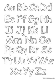 Color In Alphabet FREE printable coloring pages for youths. Color In Alphabet. Coloring For Kids Free, School Coloring Pages, Alphabet Coloring Pages, Kids Colouring, Free Printable Alphabet Worksheets, Tracing Worksheets, Free Printable Coloring Pages, Preschool Printables, Free Printables