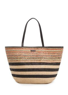 MANGO - Multicolored raffia shopper bag
