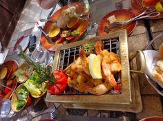 Red Sea seafood lunch at the  Steignenberger Al Dau Beach Hotel, Egypt