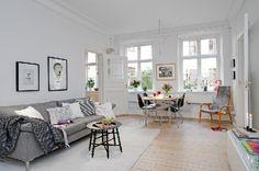scandinavian style interiors, bilocale scandinavo