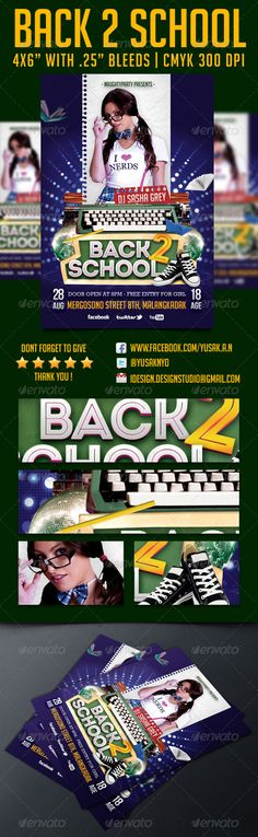 Back 2 School Flyer Template - Download…