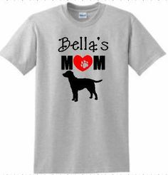 Dog momT shirt mother's day giftpersonalized dog by ElainesCrafts