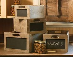 chalkboard produce crates... imagine the uses for these!!