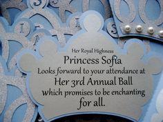 Cinderella Inspired Princess Crown Invitation by TheRedDahlia, $46.40