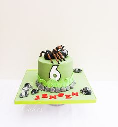 Deadly 60 themed cake with tarantula!