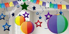 Multicolor Decorations - Multicolor Paper Decorations, Custom Banners & More - Party City
