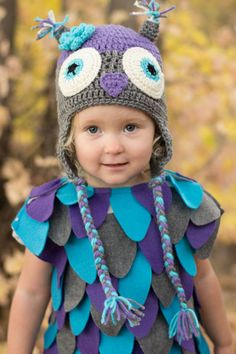 A DIY Owl Costume with Crocheted Hat | Tales + Tips | A Real Life Housewife