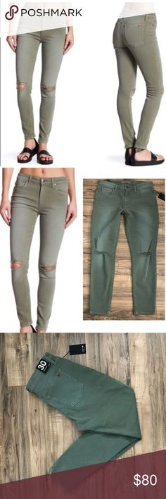 Joe's Jeans Skinny Ankle Destroyed Jeans Size 30 Brand new skinny ankle Joe's Jeans in light military green.  Smoke free home  See photos for all care directions and fabric blend info.  Please feel free to ask me any questions about the item.  Happy Poshing!! 🛍 Joe's Jeans Jeans Skinny