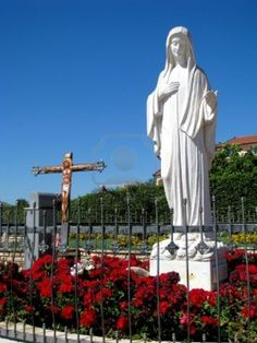 The statue of Oue Lady Queen of Peace, in Medjugorjs, Bosnia - Herzegovina  Stock Photo - 13632656