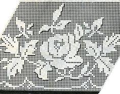 1950s Rose Chair Set pattern in filet crochet