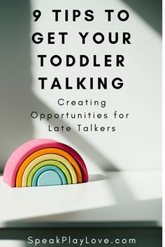 It's all about creating opportunities to get your toddler talking. Tips for language development and speech therapy at home. Toddler Learning, Toddler Preschool, Early Learning, Toddler Activities, Sensory Activities, Autism Sensory, Preschool Songs, Toddler Play, Baby Play