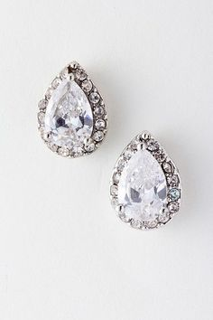 Perfect for bridal earrings & available at Voila! Bridal & Formal in Greenwood,SC