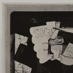 "Nature morte avec la partition du ""Socrate"" d'Erik Satie / Georges Braque - Europeana"