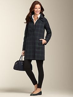 Highland Plaid Raincoat