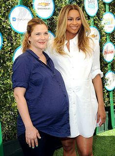 Mommies-to-be Drew Barrymore and Ciara glow at the Safe Kids Day event at The Lot in West Hollywood on Apr. 5