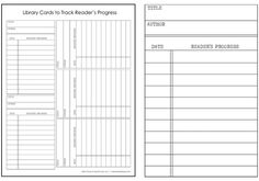 Library Check Out Template | LIBRARY CARDS: track your kid's reading progress {free printable}
