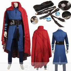 Doctor Strange Costume Stephen Vincent Cosplay Costume Outfits Full Set All Size #Handmade #CompleteOutfit