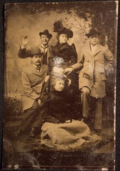 I see a smile! Someone is waving to us from the 1800s :) Unidentified Tin Type, Ferrotype