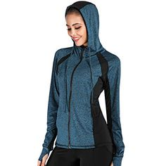 Discounted Women Yoga Jacket Full Zip Hooded Sports Running Jackets Training Lightweight Athletic Workout Track Jacket #WomenYogaJacketFullZipHoodedSportsRunningJacketsTrainingLightweightAthleticWorkoutTrackJacket Athlete Workout, Running Jacket, Yoga Tops, Keep Warm, Fashion Brands, Hoods, Sportswear