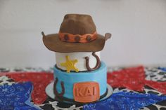 Cowboy Birthdday Cake ~ Gerty Ok. Photography, cake and decor by Carrie Sanders - Every Little Detail - 580.279.5155 email: cmbooking@yahoo.com for availability, cakes and events!