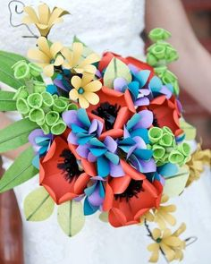 Paper Wedding Flowers @Stephanie Bales