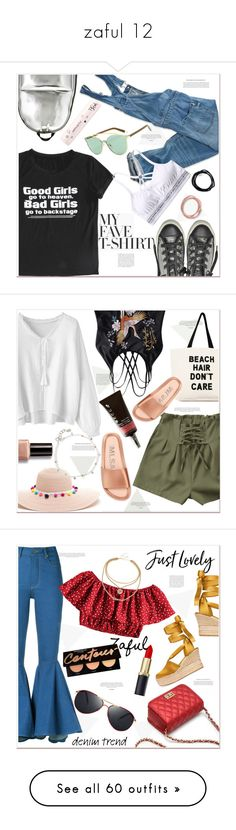 """zaful 12"" by mycherryblossom ❤ liked on Polyvore featuring American Eagle Outfitters, 3.1 Phillip Lim, Converse, MyFaveTshirt, Fallon & Royce, Bobbi Brown Cosmetics, Becca, Scosha, Amapô and Tory Burch"