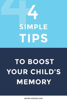 Memory is an essential component for building a solid base for learning. Find here 4 Tips to your child's memory! Your Child, Parents, Childhood, Base, Memories, Education, Learning, Children, School