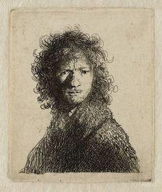 Rembrandt van Rijn, Self Portrait, Frowning, 1630 on ArtStack #rembrandt #art