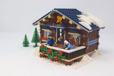 Lego Christmas Sets, Lego Christmas Village, Lego Winter Village, Lego Village, Gingerbread Christmas Decor, Pink Christmas, Christmas Ideas, Casa Lego, Miniture Dollhouse